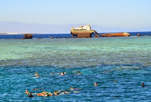 Snorkeling at Gordon Reef in the Red Sea, Egypt