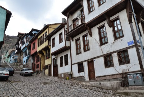 Ottoman homes in Afyon, Turkey