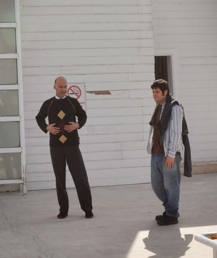 The Turkish John Malkovich with Isaac at the Florya Atatürk Deniz Köşkü in Florya, Istanbul, Turkey
