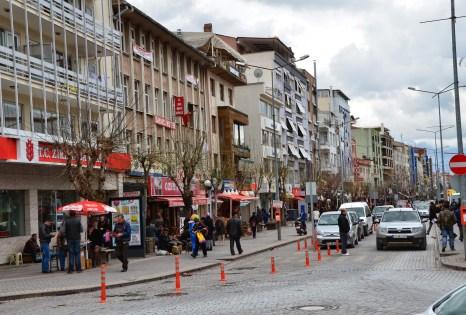 İsmet Paşa Caddesi in Uşak, Turkey
