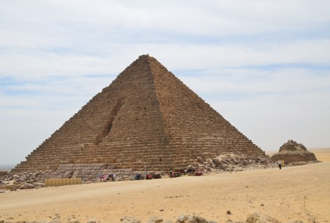 Pyramid of Menkaure at the Pyramids of Giza in Egypt