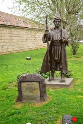 Yunus Emre statue in Büyükçekmece, Istanbul, Turkey