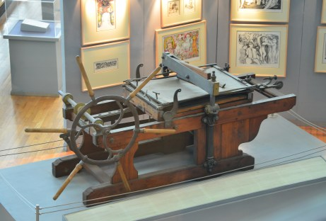 Printing press at the Library of Alexandria in Alexandria, Egypt