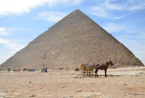 Pyramid of Khufu at the Pyramids of Giza in Egypt
