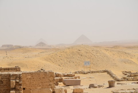 The Red Pyramid and the Bent Pyramid in the distance at Saqqara, Egypt