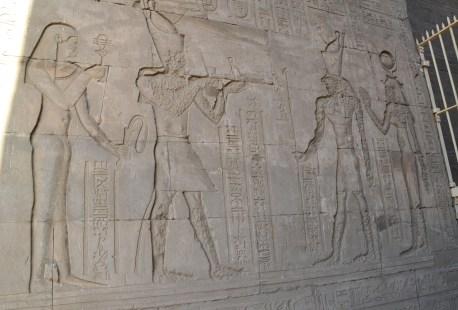 Entrance at the Temple of Edfu, Egypt
