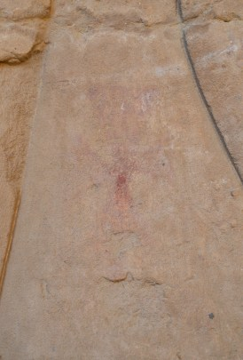 Painted cross at the Temple of Edfu, Egypt