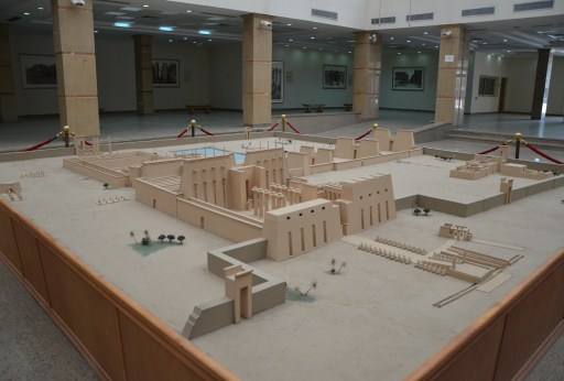 Scale model of the temple at Karnak Temple in Luxor, Egypt