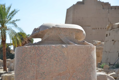 Scarab statue at Karnak Temple in Luxor, Egypt