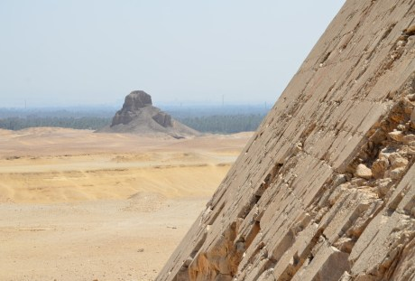 View of the Black Pyramid from the Bent Pyramid in Dahshur, Egypt