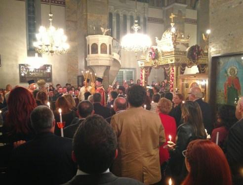 Resurrection service at Agia Triada in Moda, Kadıköy, Istanbul, Turkey