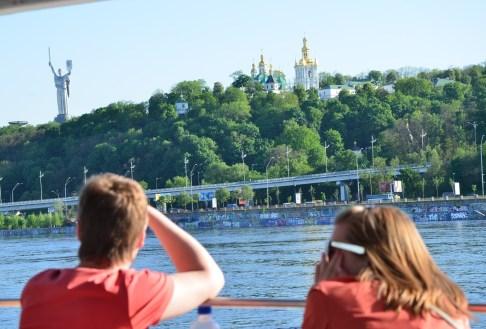 Dnipro River cruise in Kiev, Ukraine