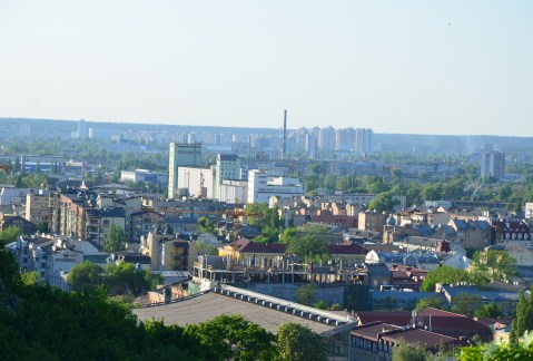 View from a panoramic terrace in Kiev, Ukraine