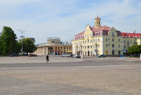 Krasna Square in Chernihiv, Ukraine
