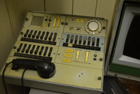 Command center in the Unified Command Post at Strategic Missile Forces Museum near Pobuzke, Ukraine