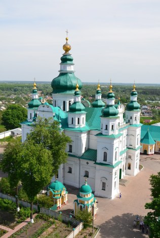 Trinity Cathedral from the bell tower at Trinity Monastery in Chernihiv, Ukraine