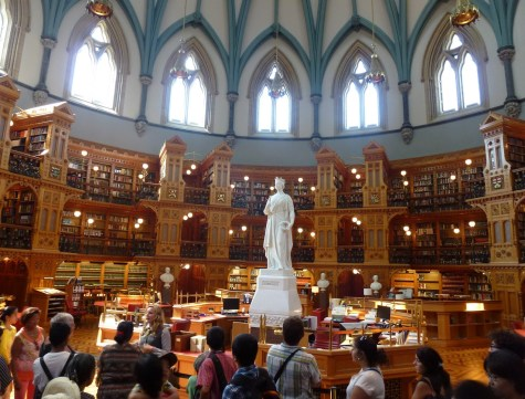 Library of Parliament at Parliament Centre Block in Ottawa, Ontario Canada