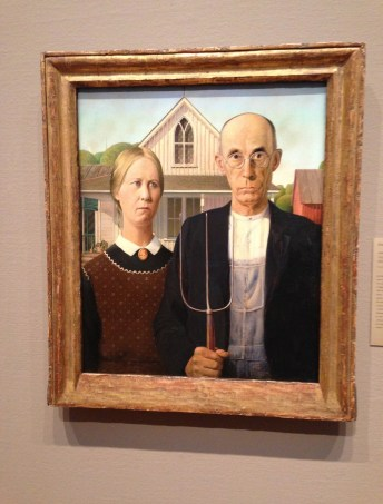 American Gothic by Grant Wood at the Art Institute of Chicago