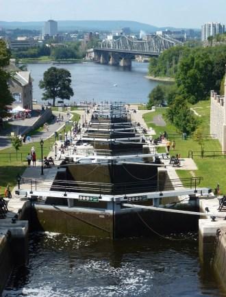 Rideau Canal in Ottawa, Ontario, Canada