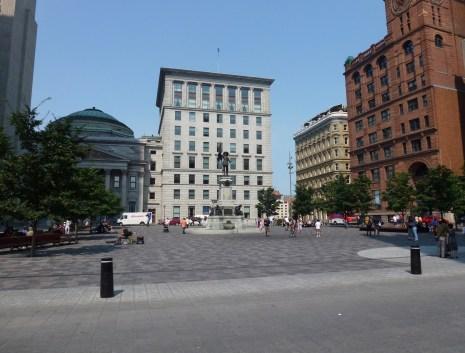 Place d'Armes in Vieux-Montréal, Québec, Canada
