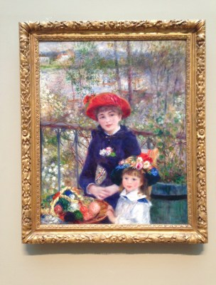 Two Sisters (On the Terrace) by Pierre-Auguste Renoir (1881) at the Art Institute of Chicago