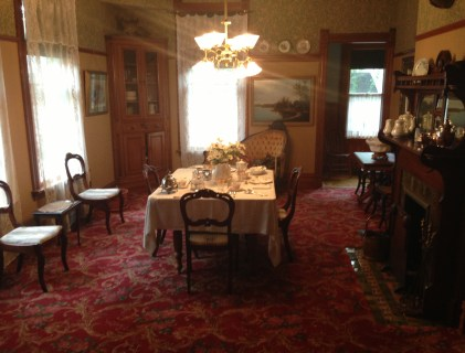 Dining room at the Ernest Hemingway Birthplace in Oak Park, Illinois