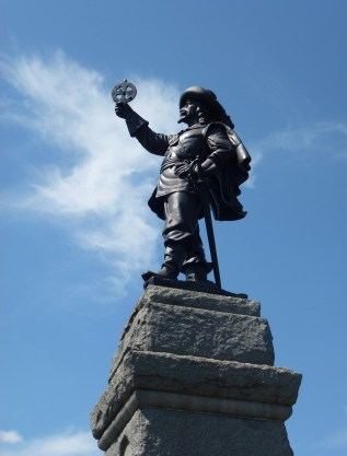 Samuel de Champlain statue at Nepean Point in Ottawa, Ontario, Canada