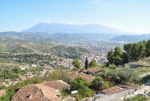View from the minaret in Berat, Albania