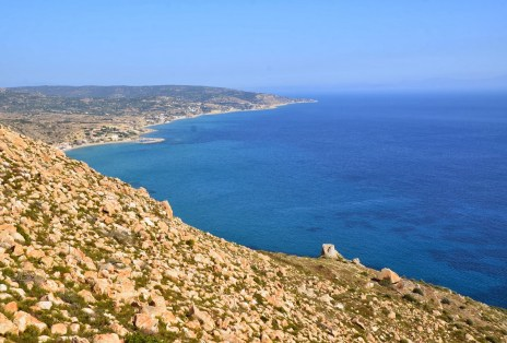 View from Emporios Settlement in Chios, Greece