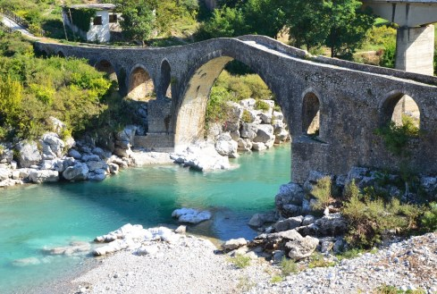 Mes Bridge in Mes, Albania