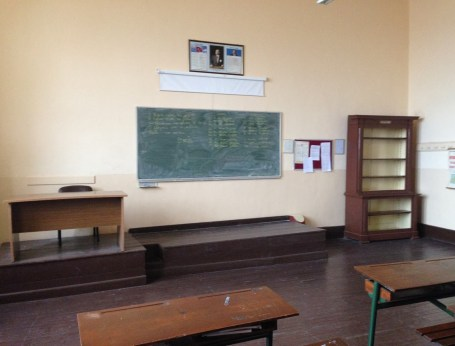 Classroom at Great School of the Nation in Fener, Istanbul, Turkey