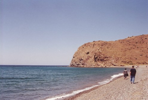 Agia Markella beach in July 2000 Chios, Greece