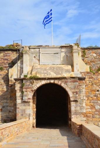 Chios Castle entrance in Kastro, Chios, Greece