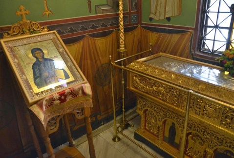 Relics of St. Theodora in Thessaloniki, Greece