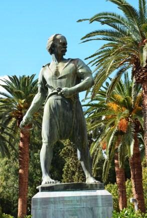 Kanaris statue in Chora, Chios, Greece