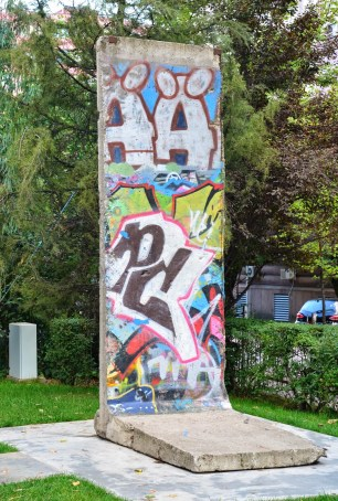 Postblloku Memorial – a piece of the Berlin Wall in Tiranë, Albania