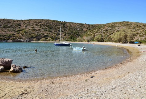 Kato Fana beach in Chios, Greece