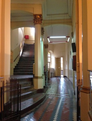 Hallway at Great School of the Nation in Fener, Istanbul, Turkey
