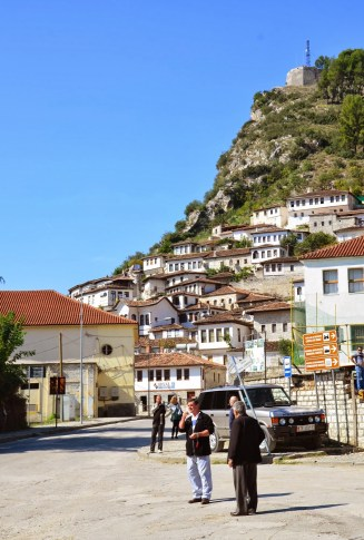 Mangalemi with the Castle on top in Berat, Albania