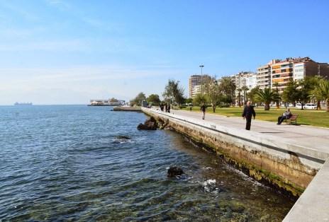Seaside promenade in Karşıyaka, Izmir, Turkey