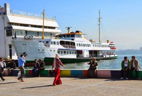 Ferry in Karşıyaka, Izmir, Turkey