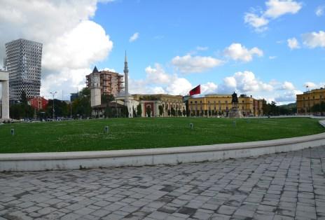 Sheshi Skënderbej in Tiranë, Albania