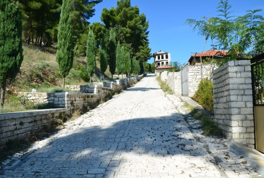Walking up to Berat Castle in Berat, Albania