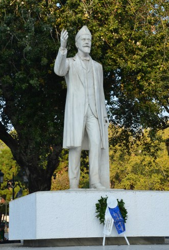 Eleftherios Venizelos statue in Thessaloniki, Greece