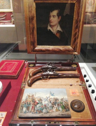 Lord Byron's pistols at the Benaki Museum in Athens, Greece