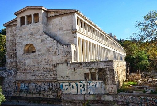 Stoa of Attalos at the Agora in Athens, Greece