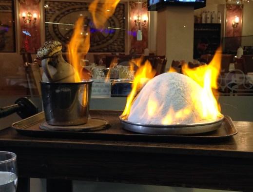 Our dinner at Hatay Medeniyetler Sofrası in Aksaray, Istanbul, Turkey