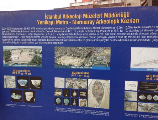 An explanation of the dig, Harbor of Eleutherios, Yenikapı, Istanbul, Turkey