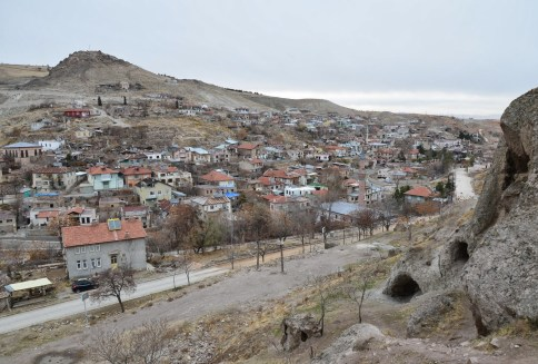 View of Sille from the caves in Sille, Turkey