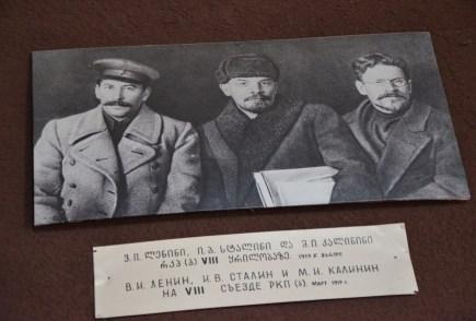 Joseph Stalin, Lenin, & Kalinin at the Joseph Stalin Museum in Gori, Georgia
